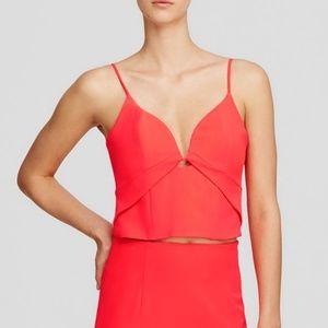 NWT Bardot Women's Pink Bustier Crop Top sz M